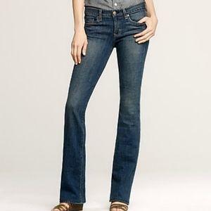 J.Crew Mid Rise Bootcut Blue Jeans Size 6P Petite